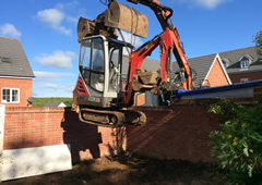 Demolition site clearance and groundworks services